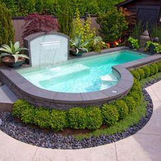 Small Pool Design www.bsw-web.de #Schwimmbad #Pool www.aquanale.com