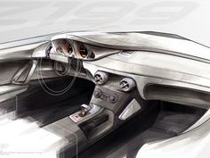 2009 Mercedes Benz Slr Stirling Moss Interior Design Sketch