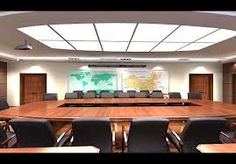 Ultra Slim Panel Light used in conference room.
