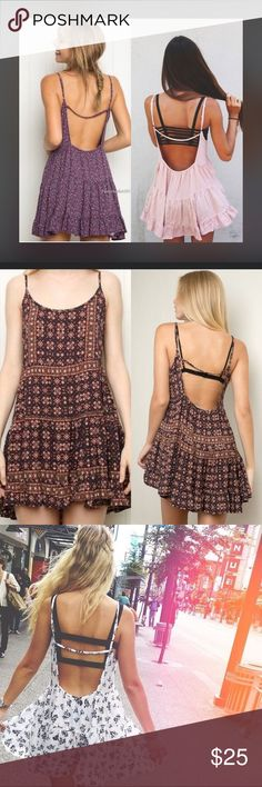 Brandy Melville jada open back dress Super cute incredibly soft jada dress by brandy melville. I love this dress however I'm not very confident of my back lol and think it's too small for my broad shoulder. NWOT condition! It's the color of the second pictures and the last picture is the actual dress Brandy Melville Dresses Mini