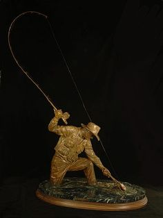Catch and Release. Trout sculpture - by Christine Knapp   #flyfishing #sculpture #catchandrelease