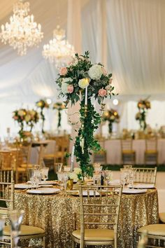 photo: Clean Plate Pictures; Glamorous wedding reception idea;