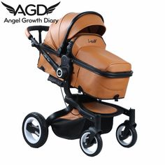 Find More Strollers Information about 2016 Baby Stroller Pushchairs For Newborn High Landscape Suspension Trolley Sitting Lying Double Skin Models 3 In 1 Strollers,High Quality stroller infant,China stroller stokke Suppliers, Cheap stroller pushchair from Angel Growth Diary on Aliexpress.com