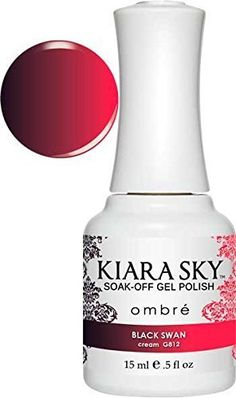 Kiara Sky Soak-off Gel Polish Ombre (Black Swan) by Kiara Sky Professional Nails Dnd Gel Polish, Gel Polish Colors, Gel Color, Nail Colors, Mood Polish, Polish Nails, Cute Nails, Pretty Nails, Kiara Sky Gel Polish