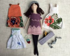 Reserved for Dyanna Fabric Doll Rag Doll Brown by rovingovine