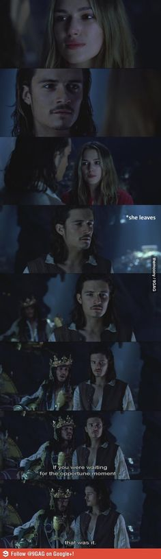 Every time I try to speak to my crush... I find this hilarious. Captain Jack Sparrow at his finest.