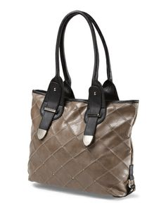 Quilted Tote With Studs