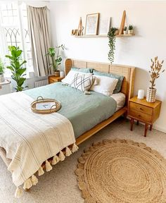 Room Ideas Bedroom, Bedroom Inspo, Home Decor Bedroom, Decor Room, Bedroom Furniture, Bedroom Inspiration, Bedroom Wall, Master Bedroom, Nature Bedroom