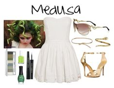 Medusa Costume by stellabear0627 on Polyvore featuring polyvore, ファッション, style, Superdry, Michael Kors, Roberto Coin, Roberto Cavalli, Clinique, Dolce&Gabbana, ORLY, Essie, fashion and clothing
