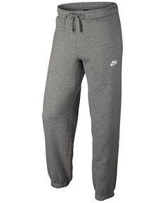 Nike Men's Fleece Cuffed Bottom Pants - Activewear - Men - Macy's