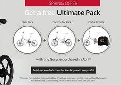 April 2017 actie - koop een Gocycle G3 en krijg er voor €500,- aan accessoires bij. Kijk snel op www.florismoo.nl