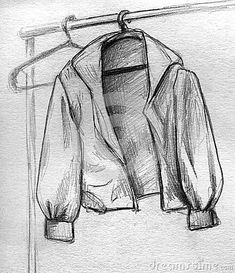 21 Jacket Pencil Drawing Ideas - New Illustration Sketches, Drawing Sketches, Drawing Ideas, Sketching, Drapery Drawing, Jacket Drawing, Arte Sketchbook, Object Drawing, Still Life Drawing