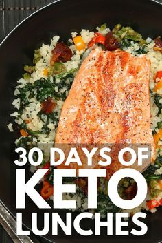 30 Keto Lunch Ideas   We're sharing 30 low carb, ketogenic diet approved easy lunch recipes for weight loss you can take to work or school, or enjoy on the go! Whether you prefer shrimp, chicken, tuna salad, beef, soups, or chili, require grain-free or dairy-free options, need something you can enjoy cold or heat up in the microwave, we've got delicious and healthy keto recipes to add to your weekly meal prep plan! #keto #ketogenic #ketosis #ketodiet #ketogenicdiet #ketorecipes #ketolunch