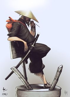 My Peacefulness is like a Samurai in Meditation but effortlessly draw my Katana when in Need ! Ronin Samurai, Samurai Art, Samurai Warrior, Samurai Poses, Character Concept, Character Art, Concept Art, Art Asiatique, Tim Walker