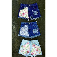 High waisted floral shorts waist sizes by EmpireDesignsLtd on Etsy, $34.99