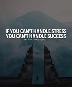 If you cant handle stress..