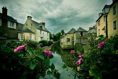 Bayeaux France  Flower boxes, lace curtains, the Bayeaux Tapestry, gate way to the D Day Beaches