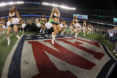 Nov 22, 2012; East Rutherford, NJ, USA; New York Jets cheerleaders perform during the half time show in the game against the New England Patriots on Thanksgiving at Metlife Stadium. Mandatory Credit: Ed Mulholland-US PRESSWIRE