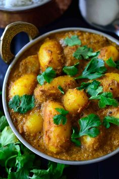 This spicy vegan potato curry is full on with flavour and easy to make with pantry staples. Fried potatoes are simmered in a spicy and savory tomato-cashew sauce infused with delicious, aromatic Indian spices. You''l be surprised by how tasty the humble potato can be!