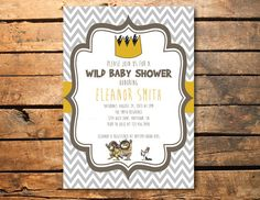 5x7 where the wild things are baby shower invitation by ssddesign, Baby shower invitations
