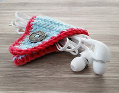 Crochet Phone Holder Crochet Cord Holder Headphone Organizer Earbud Organizer Smartphone Accessory Earphone Cord keeper Headphone USB Winder USD) by LittleKnittedThing - Crochet Cord, Crochet Pouch, Love Crochet, Crochet Gifts, Single Crochet, Hand Crochet, Cord Holder, Phone Holder, Cotton Cord