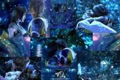 Yuna and Tidus collage