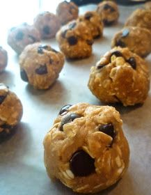 What's Baking in the Barbershop?!: Peanut Butter Oatmeal Chocolate Chip Cookie Dough Balls