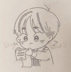 Exo, Xiuchen, Chibi, Fanart, Korea, Sketches, Couple, Comics, Drawings