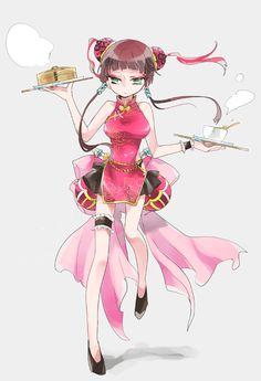 【4000年の歴史】チャイナドレス イラスト特集 | いちあっぷ講座 2d Character, Character Outfits, Gintama, Manga, Character Design Inspiration, Art Sketches, Art Reference, Chibi, Kawaii