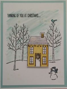 Trendy holiday home stampin up cards white christmas 67 ideas Stamped Christmas Cards, Stampin Up Christmas, Christmas Cards To Make, Christmas Settings, Xmas Cards, Handmade Christmas, Holiday Cards, Greeting Cards, Welcome Home Cards