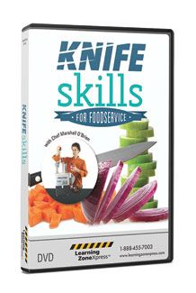 Knife Skills for Foodservice and Culinary DVD  $79.95  #Knife #Skills #Learning