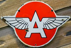 Buy sell trade vintage Petroliana Automobilia such as gas signs, porcelain signs as well as genuine ice cream Signs we ship world wide Garage Signs, Garage Art, Old Gas Stations, Porcelain Signs, Logo Sign, Collar Designs, Gas Pumps, Old Signs, Sign Printing