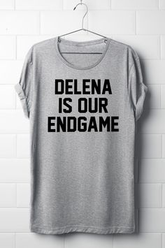 Delena is our endgame, The vampire diaries T-Shirt, Delena, Women's T-Shirt, Tvd, by 13SameOnly on Etsy