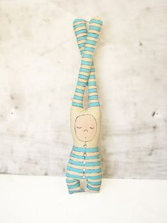 Linen toy doll by Grimme on etsy