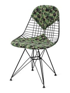 CHARLES AND RAY EAMES: DKR CHAIR FITTED WITH CAMOUFLAGE UPHOLSTERY DESIGNED BY NIGO®/BAPE