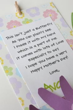 our daily obsessions: craft: mother's day card and canvas