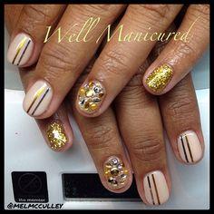 Vegas nails baby! #wellmanicured #gelish #nails #nailart #nailswag #nailpics #nailartist #nailaddict #manicure #manicureaddict #manhattanbeach #southbay #intheheartofthesouthbay #artist #gems #jewels #gold #gel #gelpolish #vegas #vegasbaby #shortnails #fun #nails2inspire #Padgram