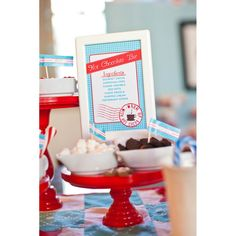 Hot cocoa bar... love the framed ingredient list! #hotcocoa