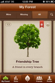 We (seegno) started working on this iPhone app a few months ago, it's our own pet project. There's a long way to go tough. Can't say much about what it does for now.The tree is just a placeholder for a rad illustration. Got it from a freebie website somewhere on the internet (sorry for not being able to credit the author).