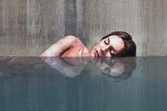 Street, or rather water(?), art done by the Hula aka Sean Yoro