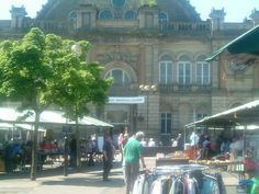 Market place with Corn Exchange building behind - Doncaster, England