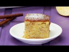 Pastel de manzana − ¡Receta sabrosa, sencilla y económica! No Cook Desserts, Cornbread, Vanilla Cake, Cooking, Ethnic Recipes, Food, Tv, Google, Apple Cobbler Recipes