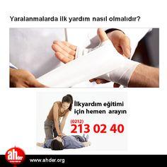 Yaralanmalarda ilk yardım nasıl olmalıdır?  http://www.ahder.org/yaralanmalarda-ilk-yardim-nasil-olmalidir