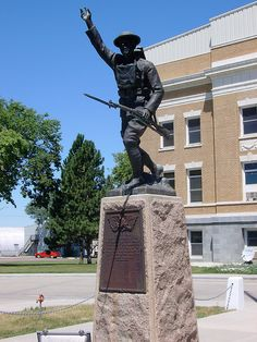 Tripp County World War Monument (Winner, South Dakota)    This statue is located in front of the Tripp County Courthouse.