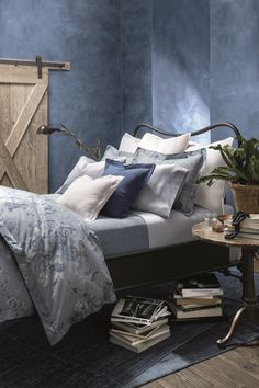 Inspired by classic American denim, Ralph Lauren Home Indigo Montauk bedding is designed to be layered for a cool, casual look