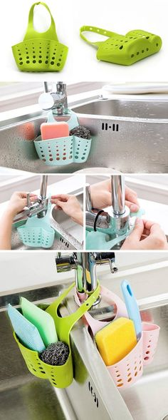 US$3.35 Kitchen Portable Hanging Drain Bag Basket Bath Storage Gadget Tools Sink Holder