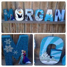 princess wood letters ideas | Frozen Wooden Letters