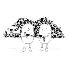 Bei IKEA genießen es Genießer am Liebsten lustige Kuscheltiere zu entdecken #stinki #popinki #ikea #fun #illustration