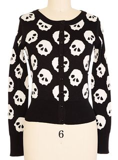 Skull Collection Cardigan Sweater at PLASTICLAND