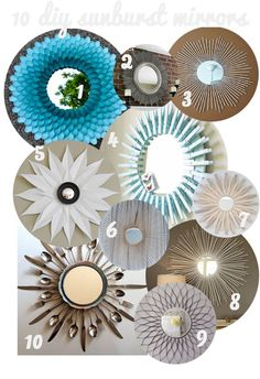 10 DIY sunburst mirrors.